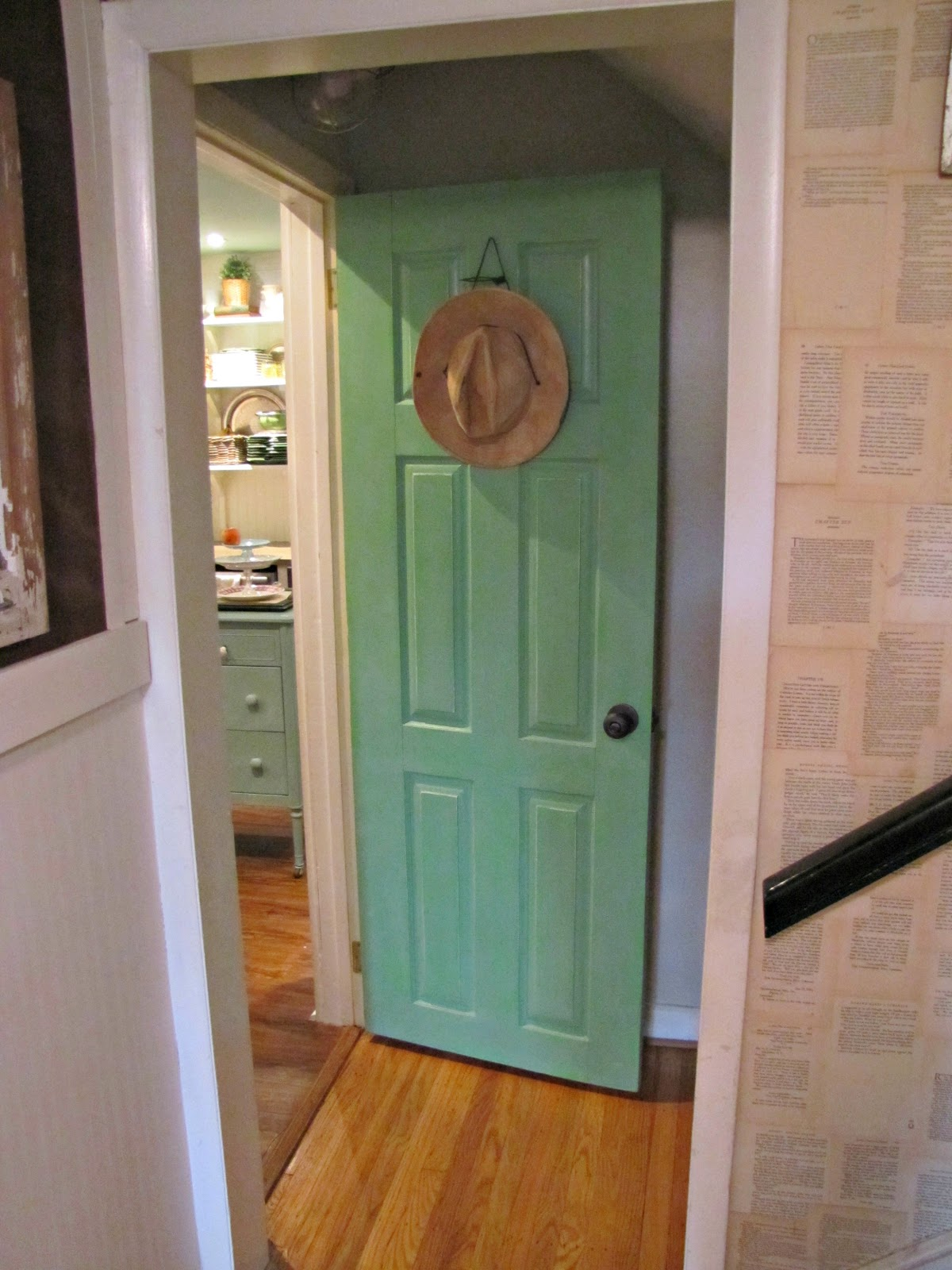 Annie sloan green door the painted home by denise sabia for Chalk paint door