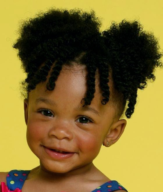 black braid hairstyles in a bun : Picture of cute hair styles for black baby girls Hairstyle Trends