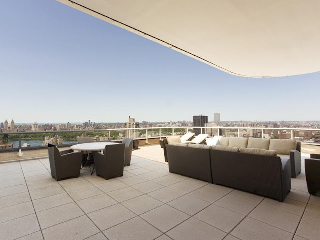 Photo of huge rooftop terrace in New York penthouse