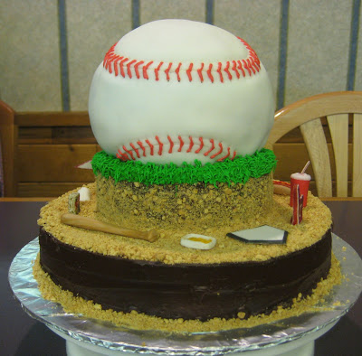 3D Baseball Themed Cake - Back View