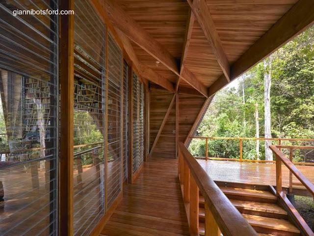 Pabellón de casa Tropical en Costa Rica