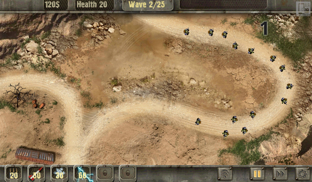 солдатики атакуют и прорываются сквозь уровень