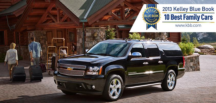 KBB.com Names 2013 Chevy Suburban Best Family Car