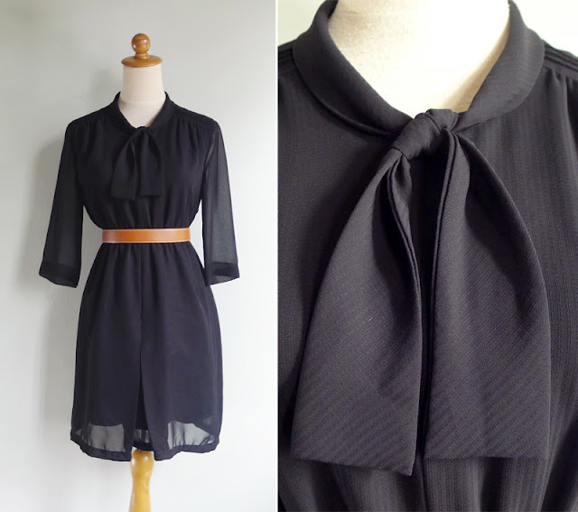 vintage black secretary dress