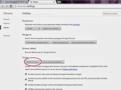 cara menonaktifkan javascript google chrome
