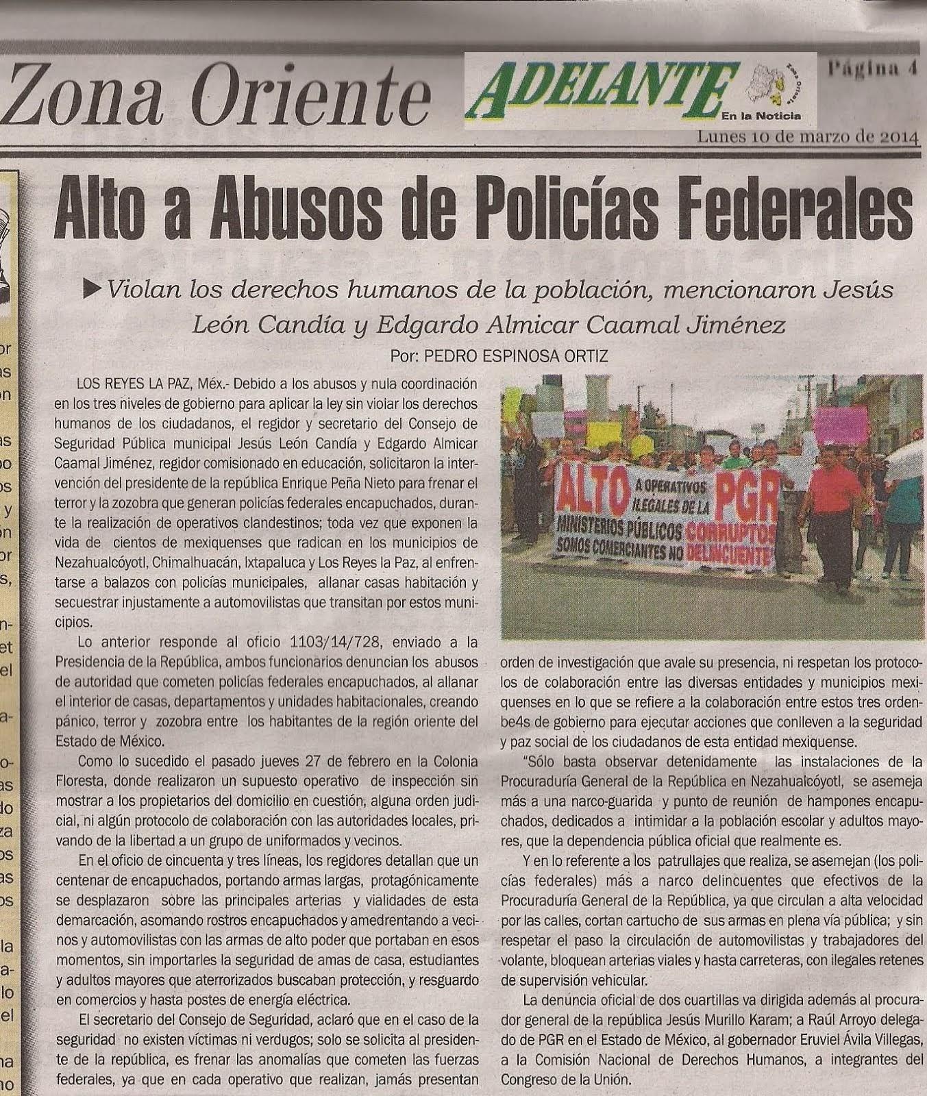 Alto a Abusos de Policias Federales