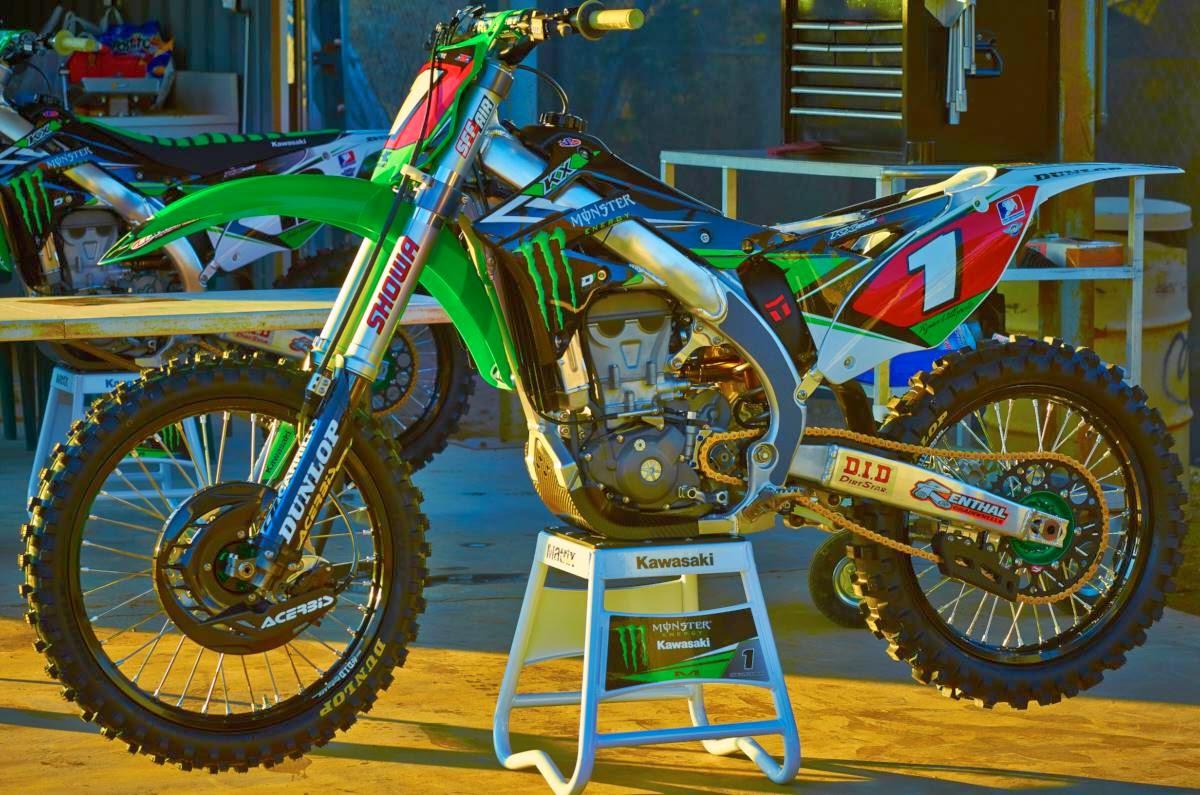 Racing Caf 232 Kawasaki Kx 450f Team Monster Energy Kawasaki