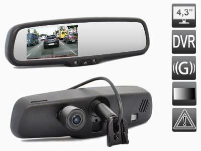 зеркало с автозатемнением AVS0488DVR (AUTO DIMMING)