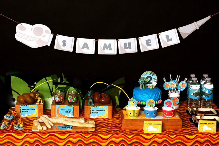 Kara 39 s party ideas dinosaur 2nd birthday party kara 39 s for 2nd birthday party decoration ideas
