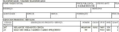 NeXT ERP Brasilia ISSQN Conjugada Produtos Serviços