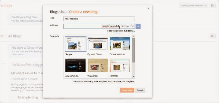 How To Make A Blog On Blogger.com - Creat New Blog
