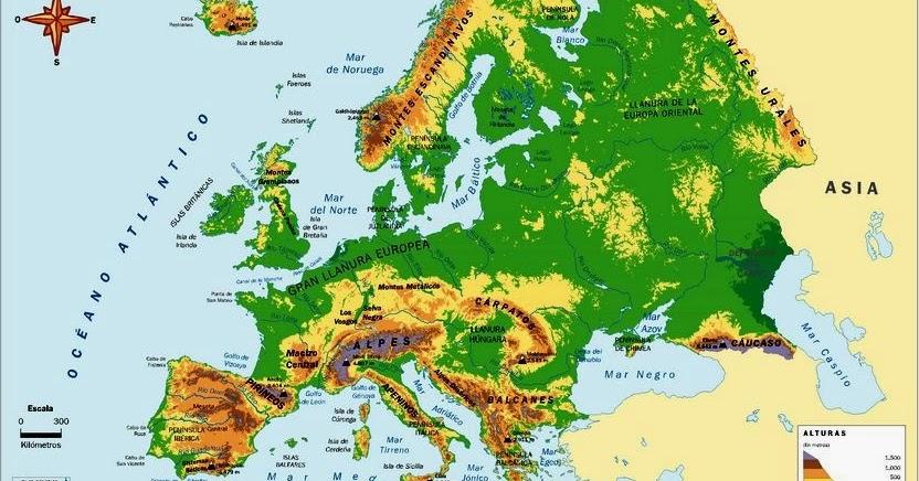 Worksheet. El estublog de 6B Mapas fsicos de Europa