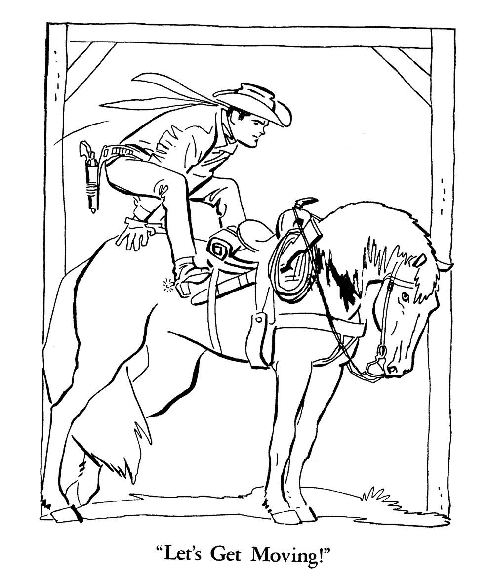 Whitman hot wheels coloring book - Toth Buffalo Bill Jr And Calamity Coloring Book 1957