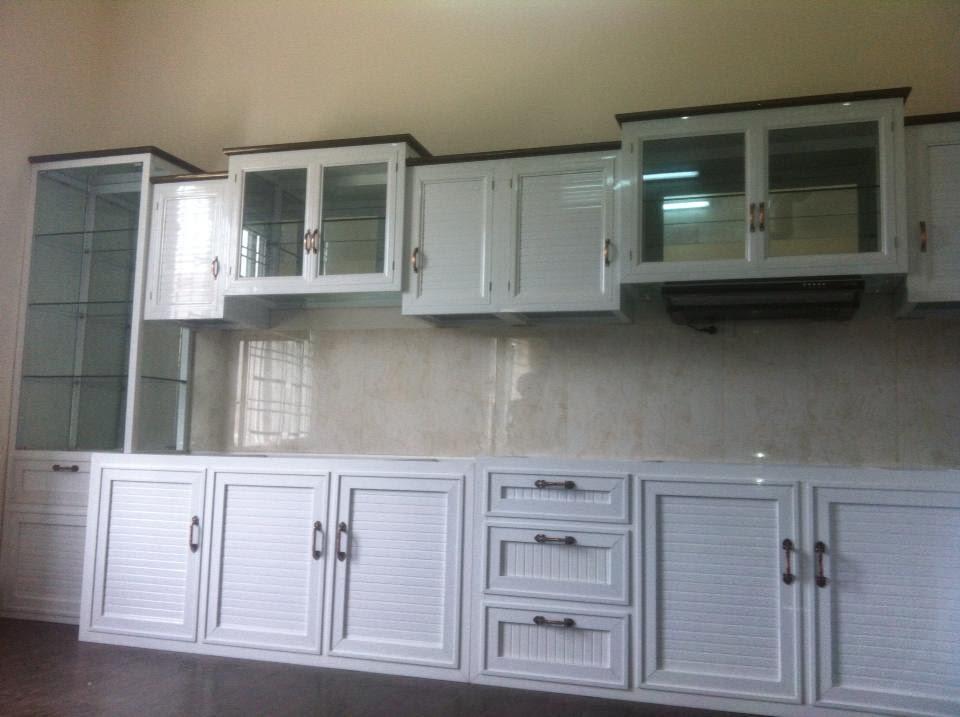 tủ bếp nhôm kính treo tường 7