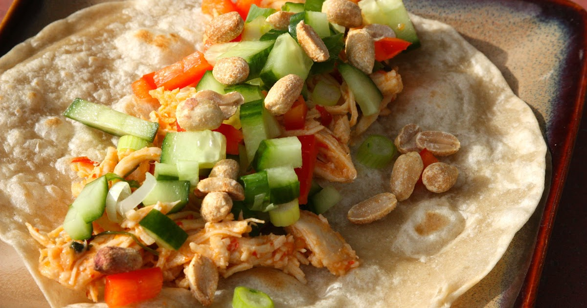 My Recipe Box: Thai Chicken Tacos/Wraps