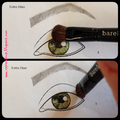 Applying eyeshadow with bareMinerals Perfect Ten brushes