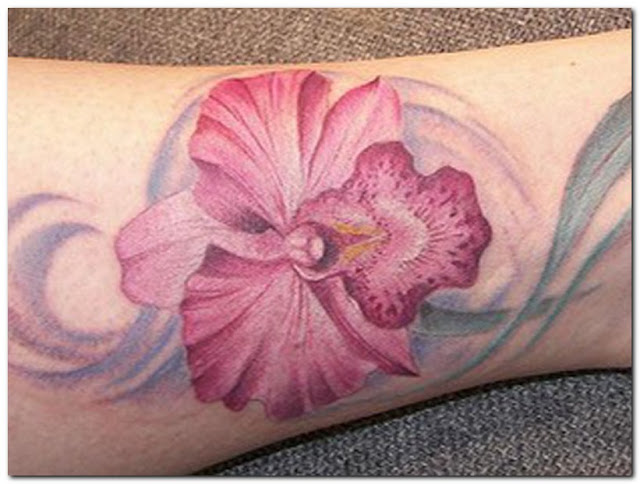 Orchid-flower-tattoo-designs