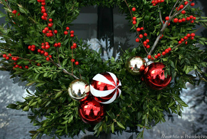 wreath detail via Meet Me in Philadelphia