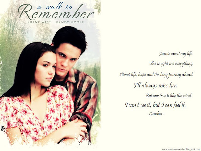 a walk to remember personal response