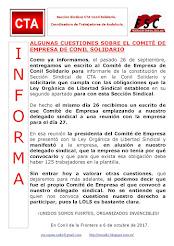 ALGUNAS CUESTIONES SOBRE EL COMITÉ DE EMPRESA DE CONIL SOLIDARIO