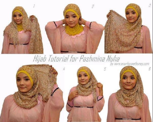 Tutorial 1 How to wear a pashmina scarf  HIJAB STYLE  HIJAB  Pashmina Scarf How To Wear