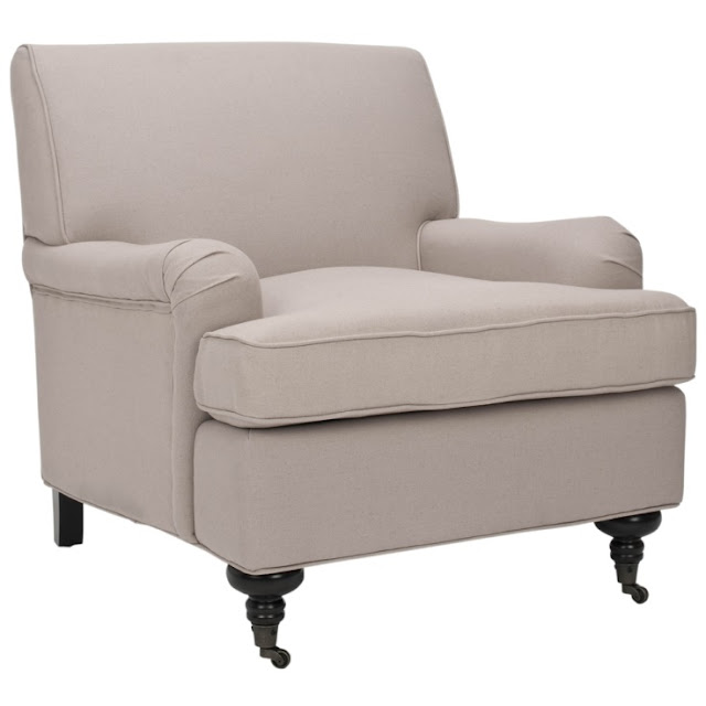 OVERSTOCK NOTTINGHAM SAND BEIGE CLUB CHAIR