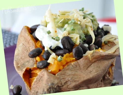Mexican Savory Stuffed Sweet Potato