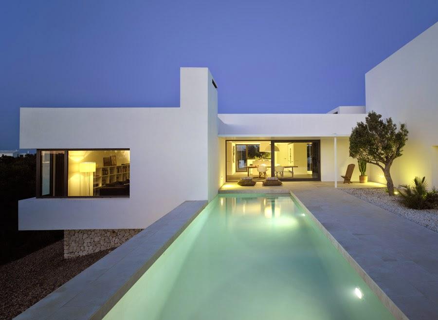 Luxury balear chalet de dise o minimalista en cala morell - Chalet diseno moderno ...