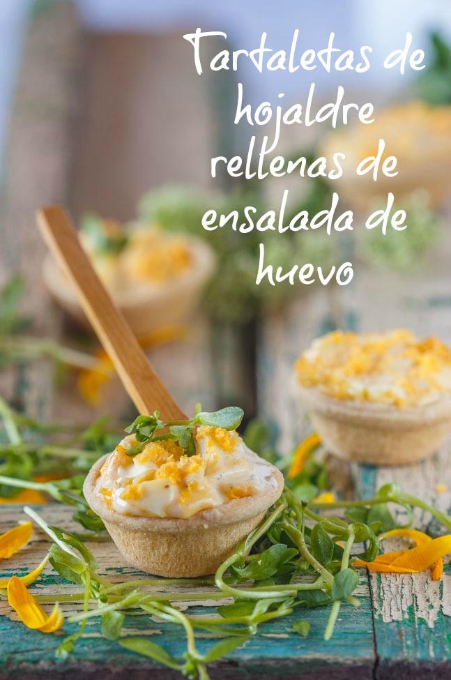 Tartaletas rellenas de ensalada de huevo. http://www.maraengredos.com/