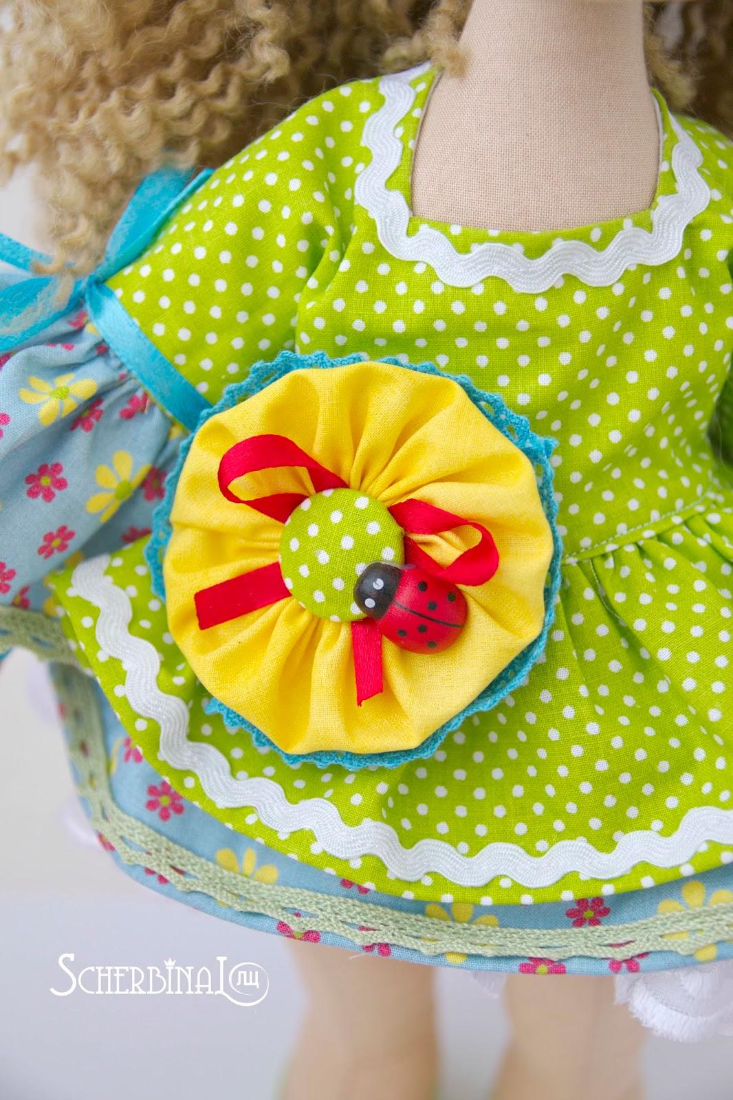 текстильная кукла карамелька, принцесса на горошине