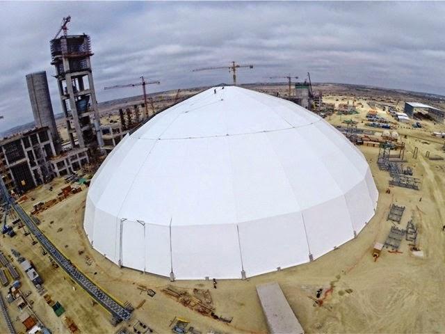 Levantan el domo más grande del Perú