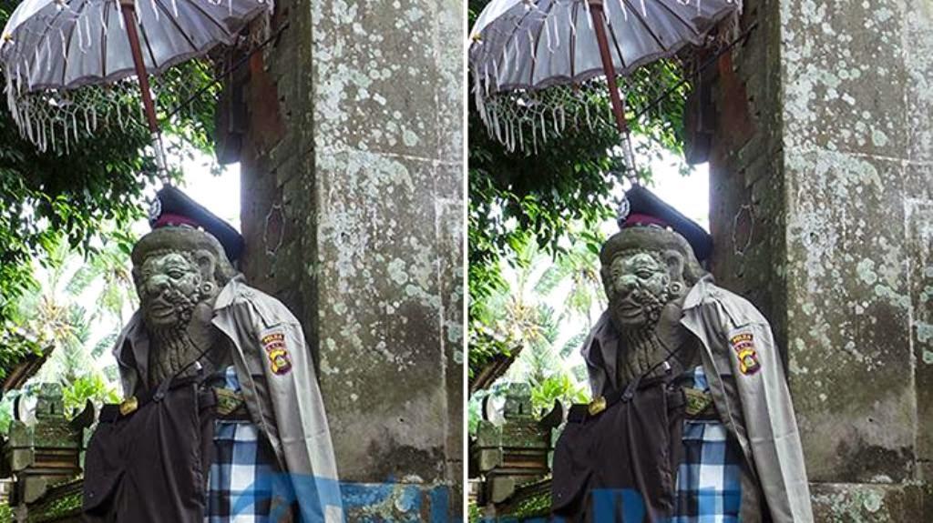 Kisah mistis patung polisi di Bali