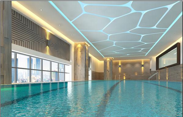 Bể bơi bốn mùa rộng 300m2 ở Elite Fitness Vincom Center Nguyễn Chí Thanh
