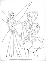Barbie Fairytopia Printable Kids Coloring Sheet Realistic