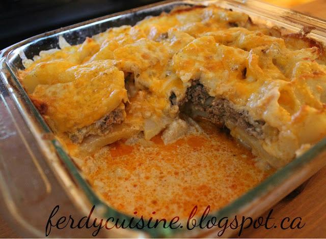 Le blog culinaire d 39 une d butante gratin de pommes de terre et viande hach e - Gratin de pommes de terre au four ...