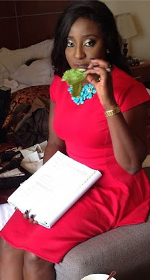 PHOTOS:Actress Ini Edo Dazzles In Red Hot Outfit