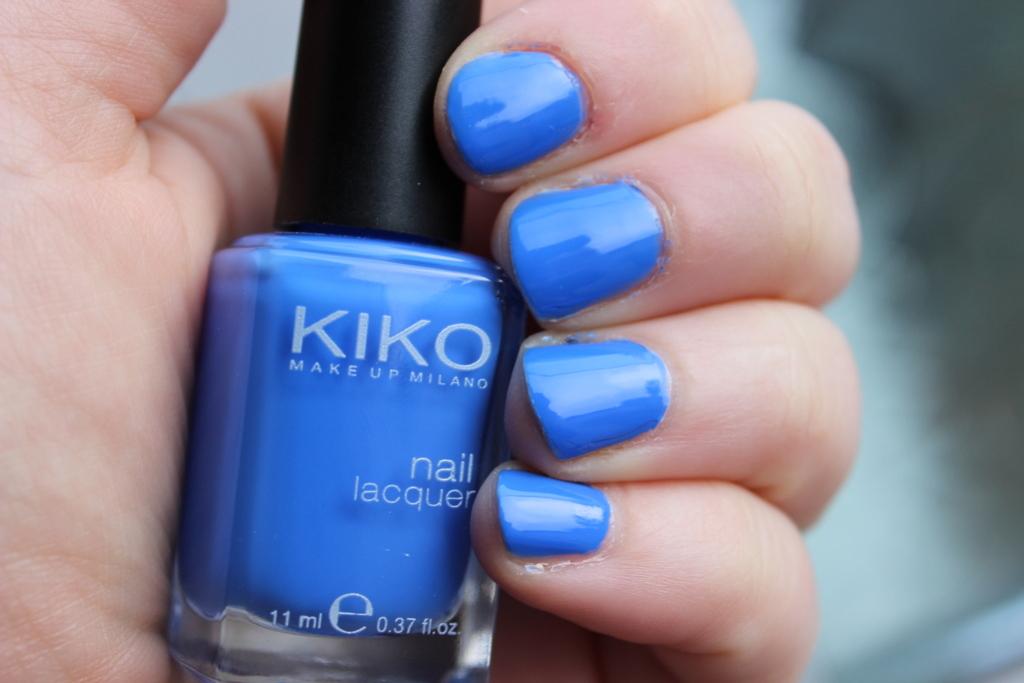 Kiko nail polish shade 385 Pastel Blue photos, review   Lovely ...