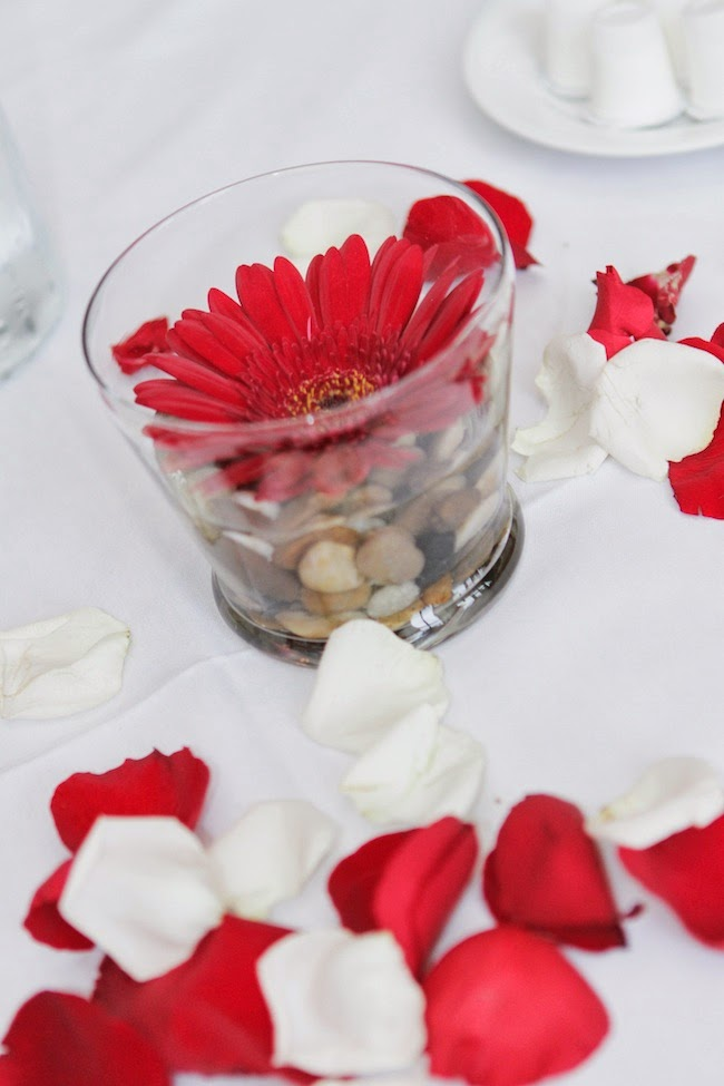 DIY simple wedding centerpieces