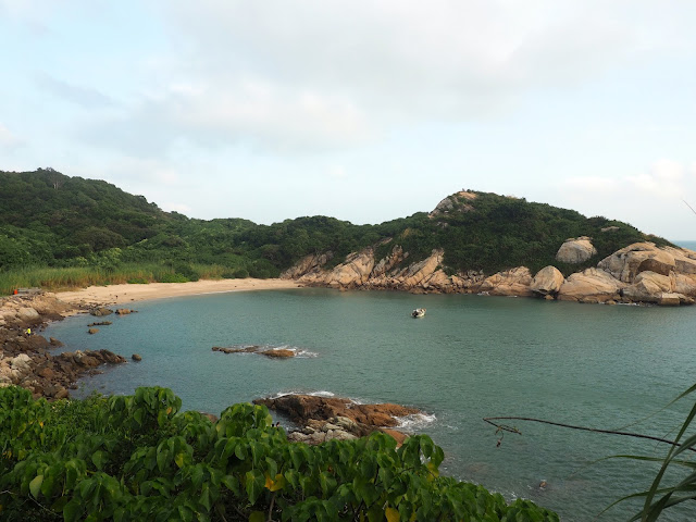 Hidden beach cove of Po Yue Wan along the south side of Cheung Chau Island, Hong Kong