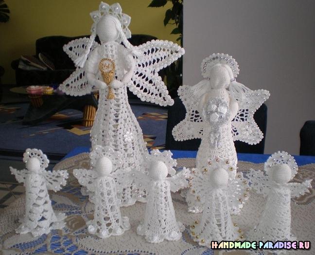 Ажурный ангел. Вязание крючком