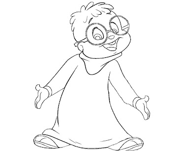 #7 Alvin and the Chipmunks Coloring Page