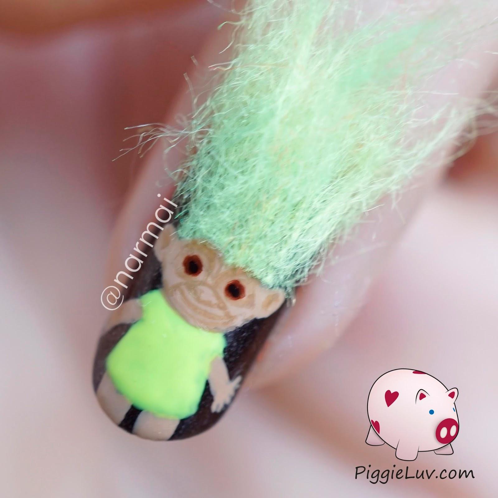 Trolls Movie Nail Art: PiggieLuv: 3D Troll Dolls Nail Art