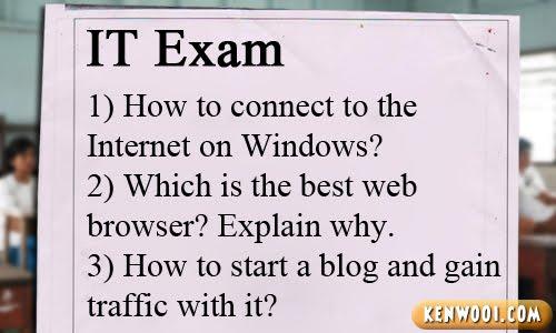 it exam paper