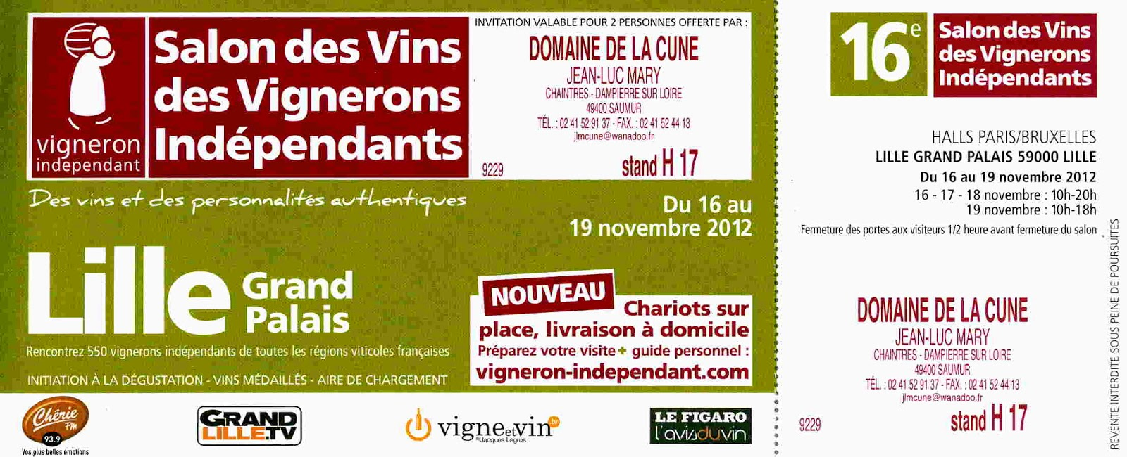 Winejaw lille wine fair november 2012 salons des vins - Salon des vignerons independants lille ...