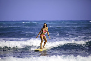 Surfing on Oahu vacation