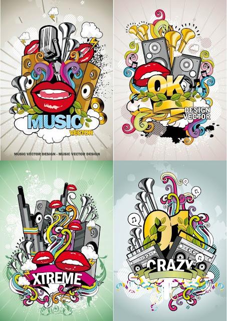 Vectores abstracto de música