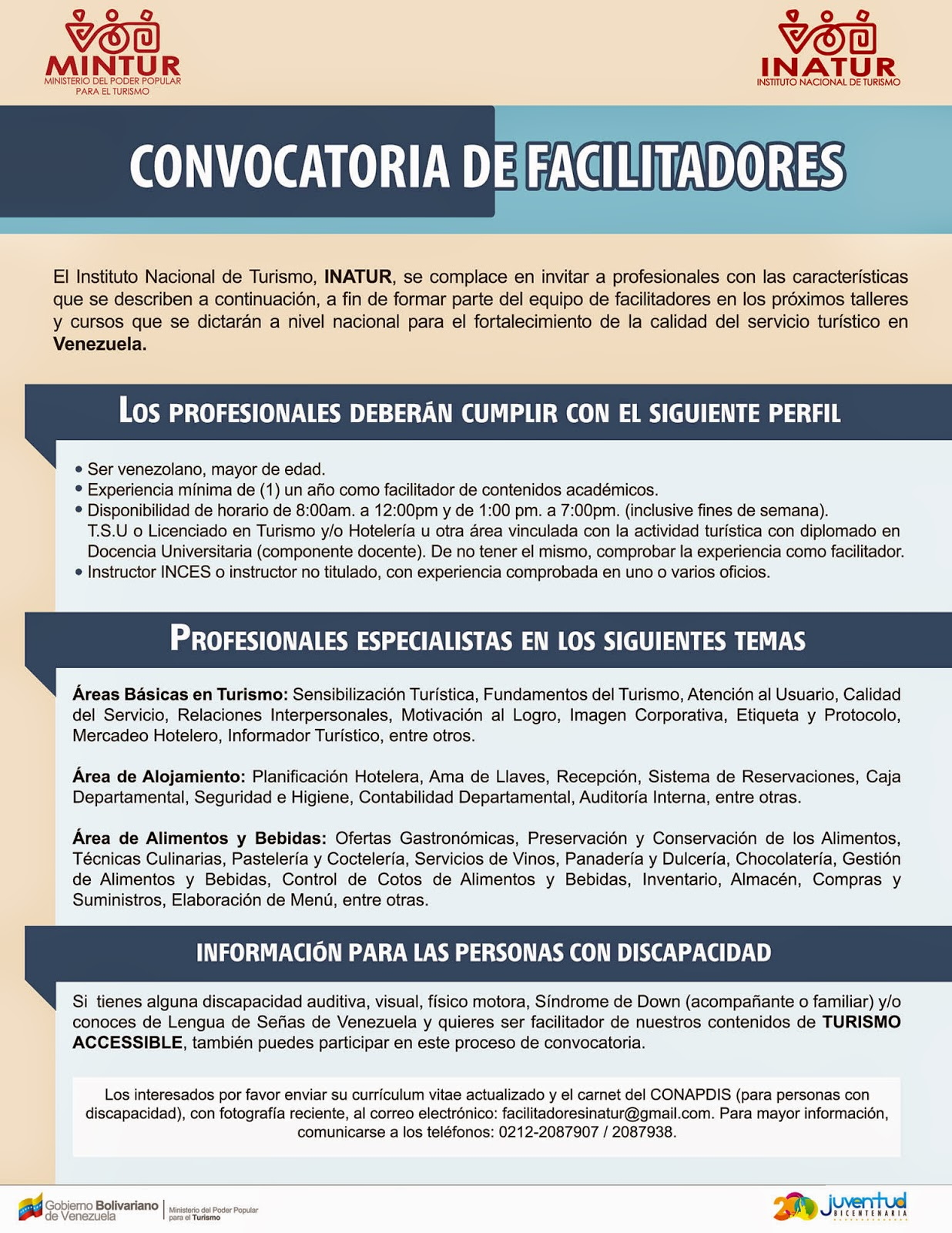 Programa Hotel Escuela Cumaná : 2014