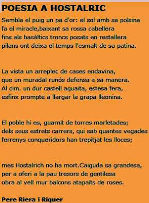 Poesía a Hostalric de Pere Riera