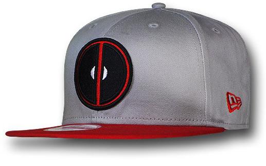 New Era Deadpool Symbol Grey 9Fifty Snapback Cap  c881d2a7377