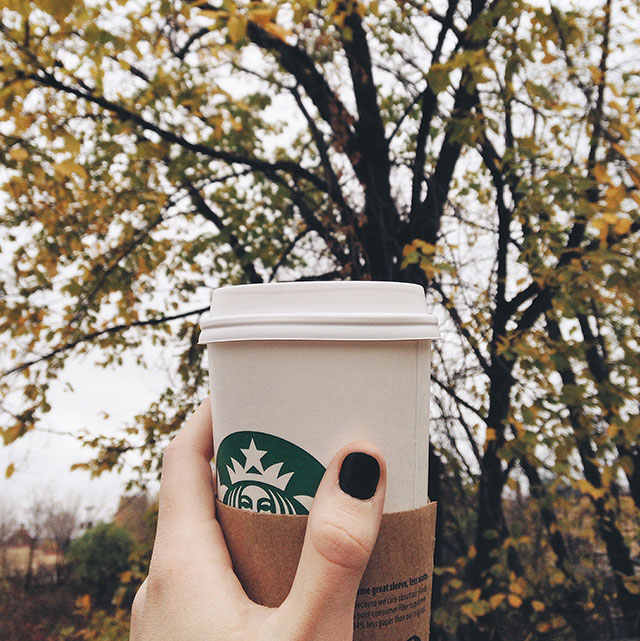 It may be dreary out, but at least there's coffee